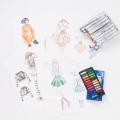 デザイン画製作体験/華服飾専門学校