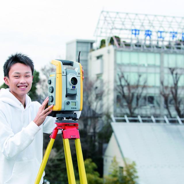 中央工学校 2019体験入学☆測量機器を使ってみよう!1