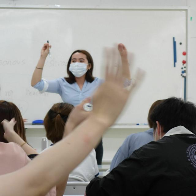 福岡外語専門学校 授業見学会1