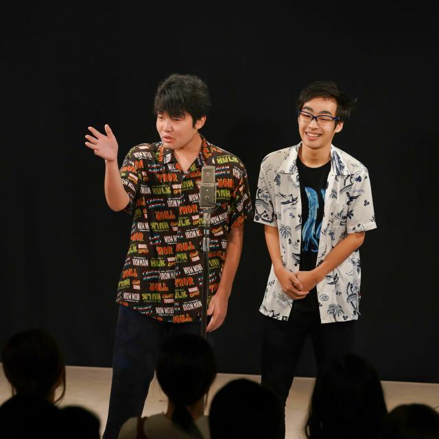 専門学校東京アナウンス学院 芸能バラエティ科の体験入学「お笑いタレント養成講座」1
