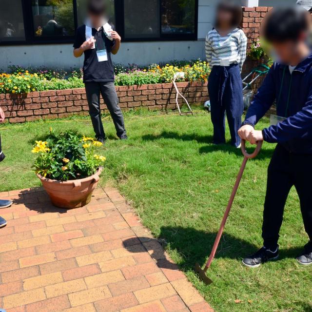 日本ガーデンデザイン専門学校 在校生が教える 芝生の管理方法3