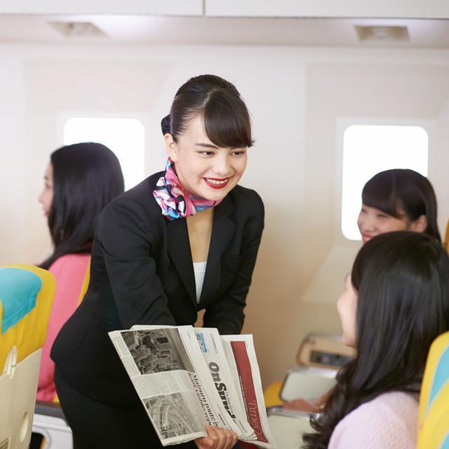 名古屋外語・ホテル・ブライダル専門学校 CAを目指す素敵な先輩が明るくサポート!国際エアラインコース1