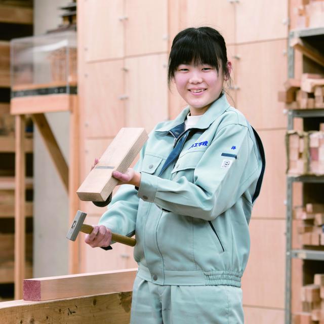 中央工学校 2018体験入学☆大工道具を使ってみよう!2