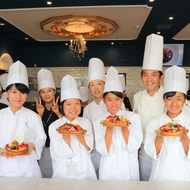 大阪調理製菓専門学校 ブドウのタルト体験コース1