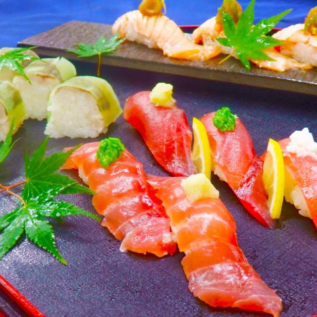大阪調理製菓専門学校ecole UMEDA AO入試エントリー資格取得!マグロと炙りサーモンの寿司1