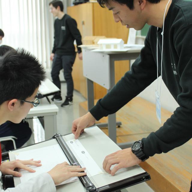 大阪工業技術専門学校 【建築】プチ建築士を体験しよう☆オープンキャンパス☆1