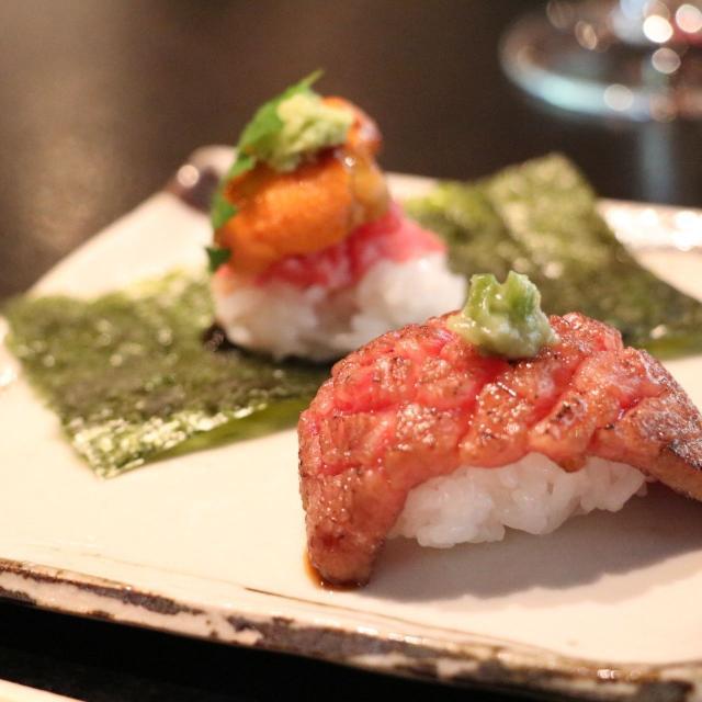 大阪調理製菓専門学校ecole UMEDA AO入試エントリー資格取得!【肉フェス!】牛肉の寿司1