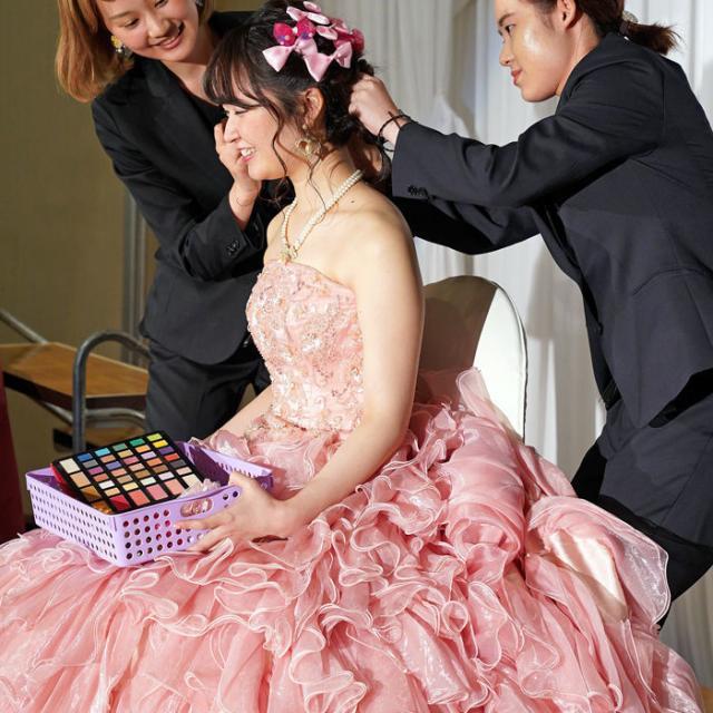 名古屋ファッション・ビューティー専門学校 全国大会出場作品とブライダルヘアメイクショーを見よう3