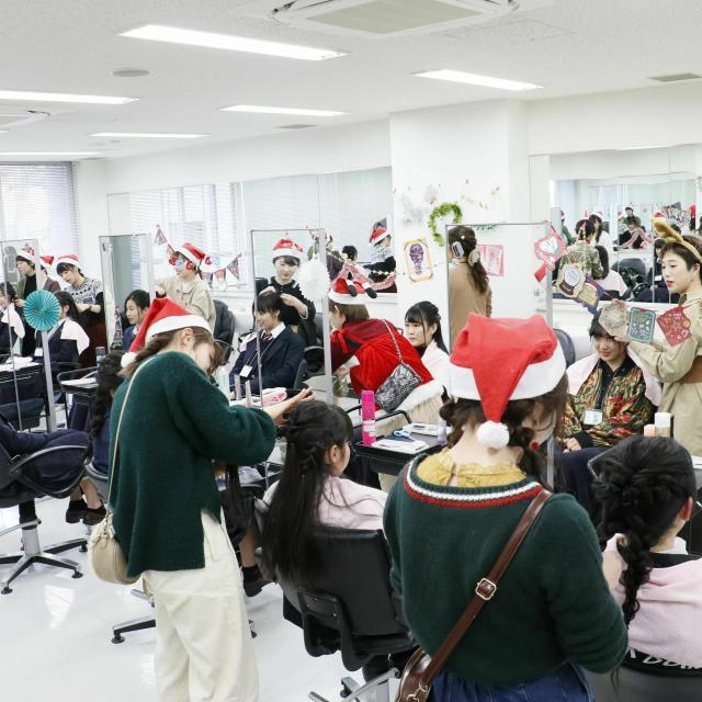 国際文化理容美容専門学校国分寺校 クリスマスオープンキャンパス3