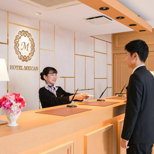 名古屋観光専門学校 【ホテル学科】英語でチェックインにチャレンジ!1