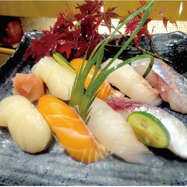 【日本料理】人気ネタの寿司の盛り合わせ