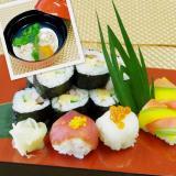 楽しく美味しく飾り寿司と蛤のお吸物の詳細
