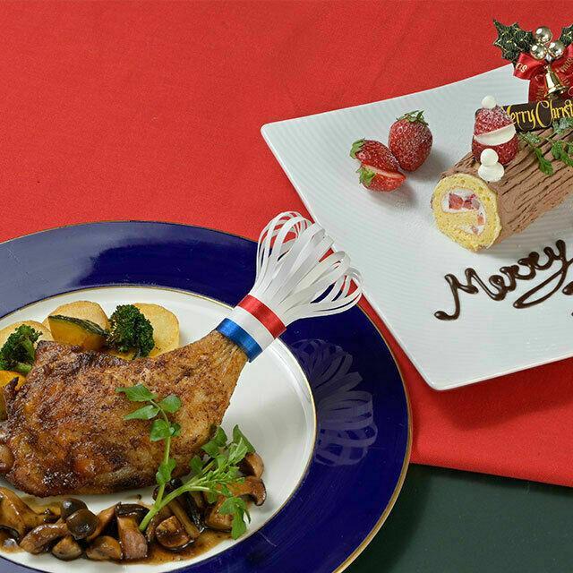 織田調理師専門学校 鶏もも肉のロースト&プチ・ブッシュドノエル1
