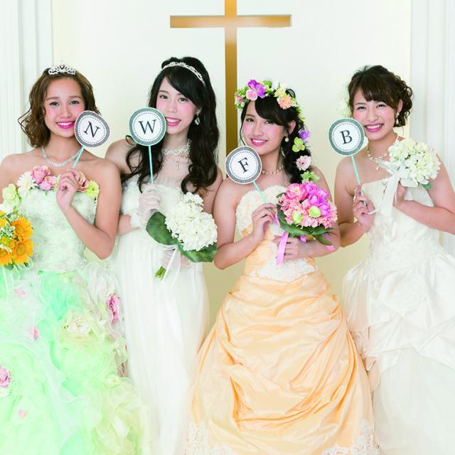 専門学校名古屋ウェディング&フラワー・ビューティ学院 人気ウェディングドレス試着1