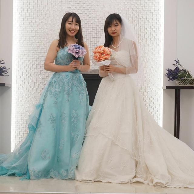 国際トラベル・ホテル・ブライダル専門学校 ドレスを着てみよう♪☆ブライダル科☆オープンキャンパス1