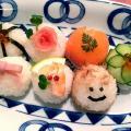 西武学園医学技術専門学校 オープンキャンパス(栄養士科)節分カラフル寿司 食育ごはん