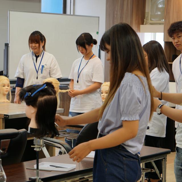 大阪中央理容美容専門学校 チューリビ☆オープンキャンパス4