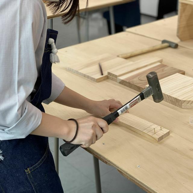 仙台工科専門学校 熟練の匠のもとで木工体験をしよう!【大工技能学科】3