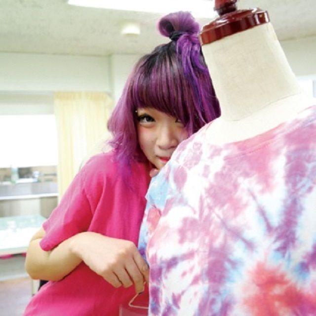 東京服飾専門学校 タイダイTシャツを作ろう!1