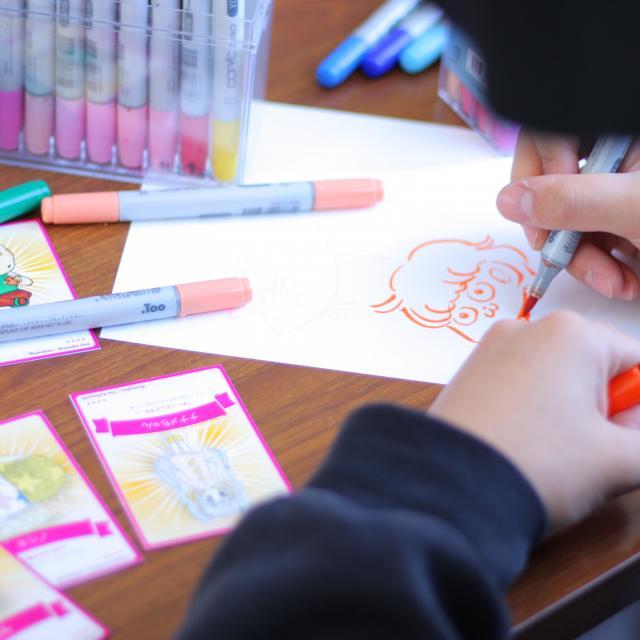 新潟デザイン専門学校 キャラクターデザイナー来校★参加型トークライブ1