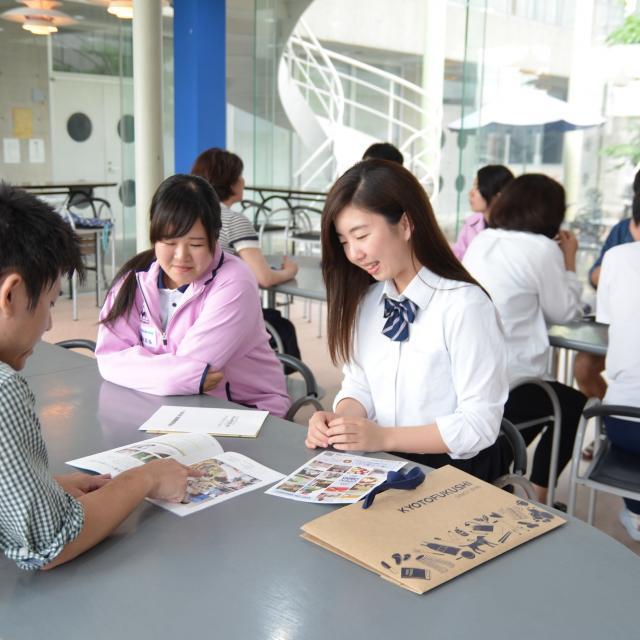京都福祉専門学校 体験入学会 ~ 介護体験とアイマスクで白杖体験 ~2