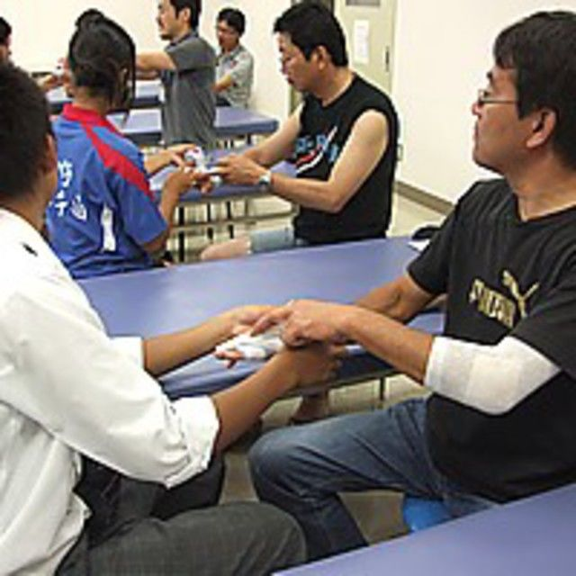 長野救命医療専門学校 2018年度オープンキャンパス開催!柔道整復師の仕事体験2