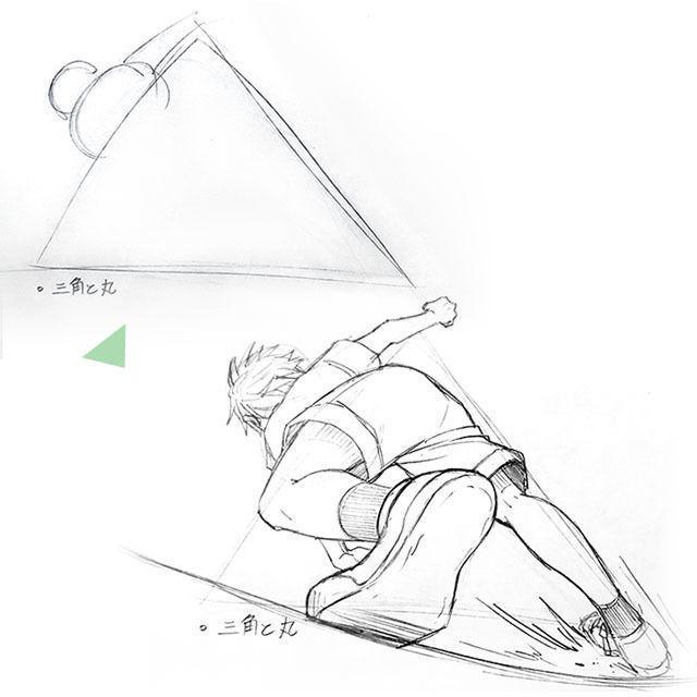 阿佐ヶ谷美術専門学校 ○△から考えるマンガのポーズ1