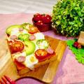 札幌ベルエポック製菓調理専門学校 【カフェ体験】クランベリートマトカクテル&トーストピザ