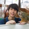 東京コミュニケーションアート専門学校 エキゾチックアニマル飼育体験