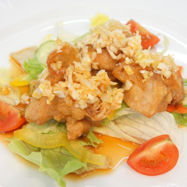 神戸国際調理製菓専門学校 中国料理「油淋鶏」に挑戦!!1