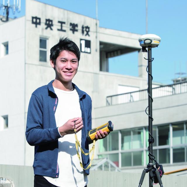 中央工学校 2018体験入学☆測量機器を使ってみよう!4