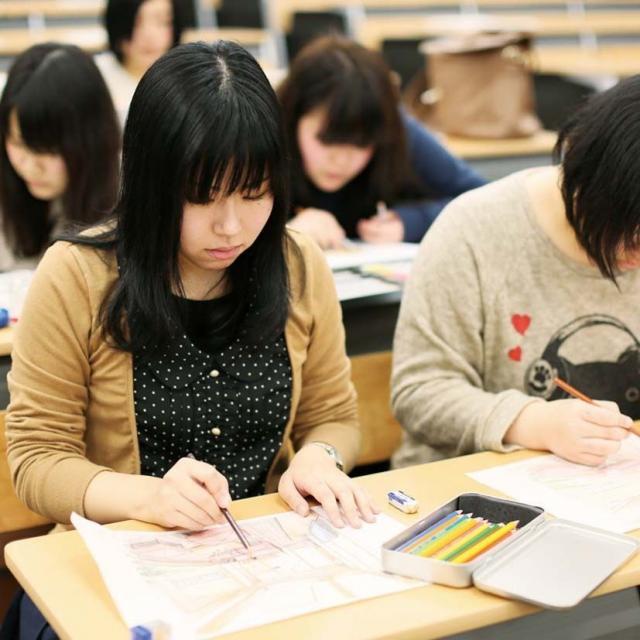 京都建築大学校 インテリア体験ができるオープンキャンパス1