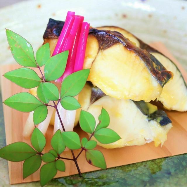 東海調理製菓専門学校 ☆★日本料理 鰆の西京焼き/海老真丈のお吸い物★☆1