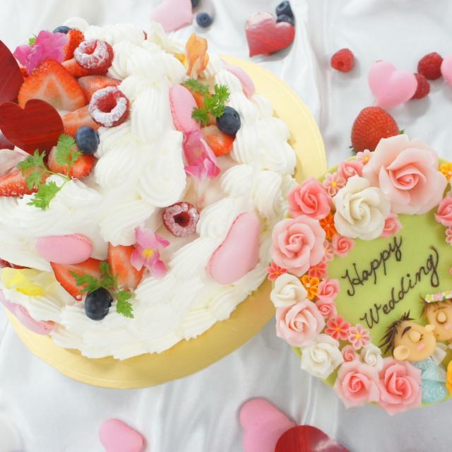 神戸国際調理製菓専門学校 「二段のウェディングケーキ」一人でつくります!!1