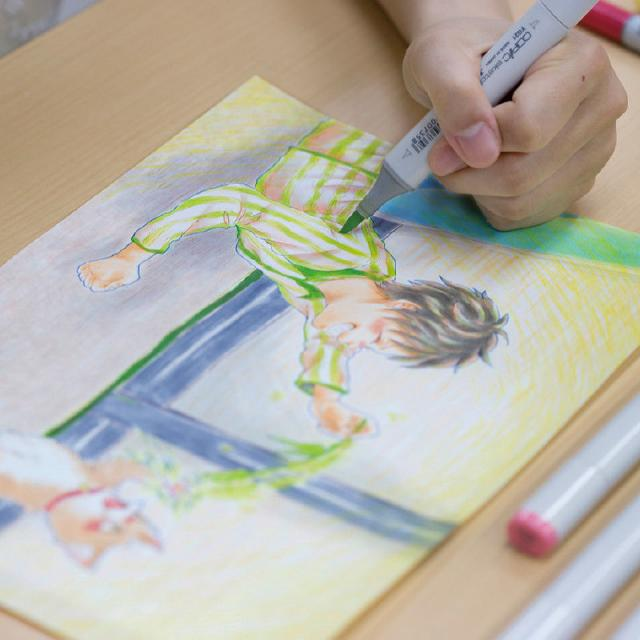専門学校日本デザイナー芸術学院 仙台 ポストカードを作ってみよう♪【イラストレーション科】1