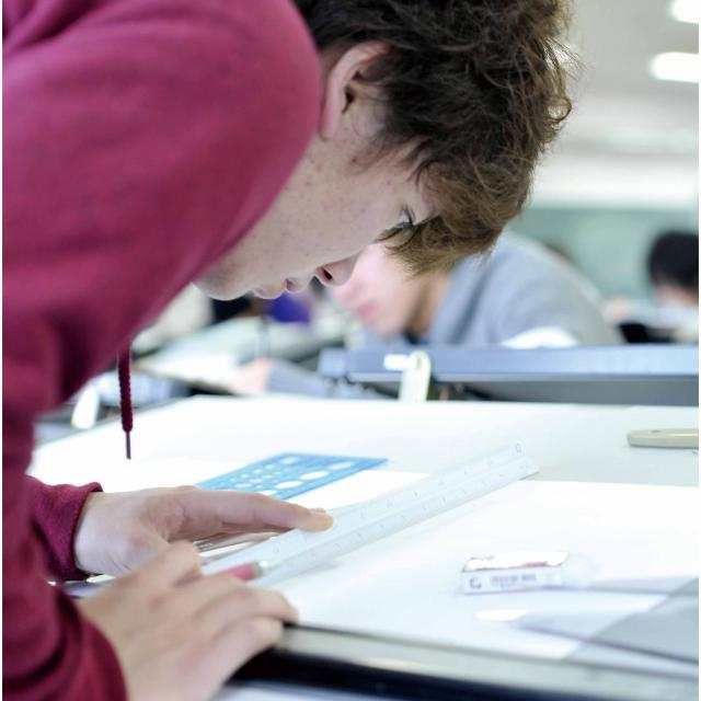 製図体験ができるオープンキャンパス