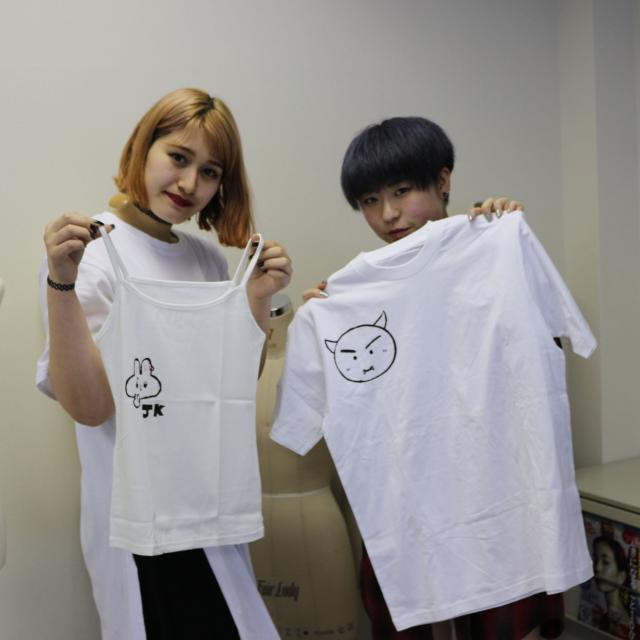 専門学校ファッションカレッジ桜丘 【体験実習B】ハンドプリントTシャツ製作3