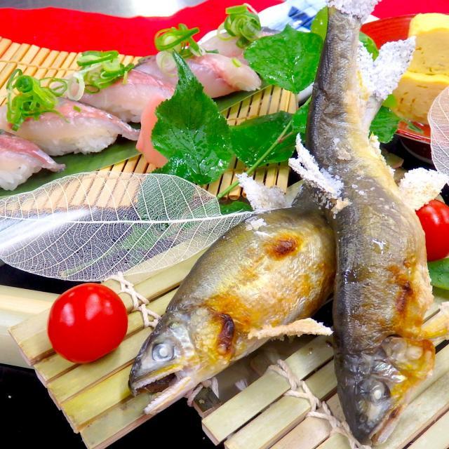 大阪調理製菓専門学校ecole UMEDA AO資格取得!鮎の塩焼き・鯵の寿司&夏の味覚!ビュッフェ開催1
