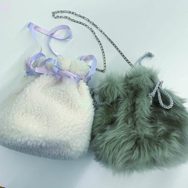 渋谷ファッション&アート専門学校 体験実習★ふわモコ巾着バッグをつくろう!1