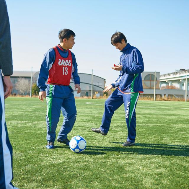 芦屋大学 【スポーツ系体験授業】ゴール型球技の指導法を考えよう2