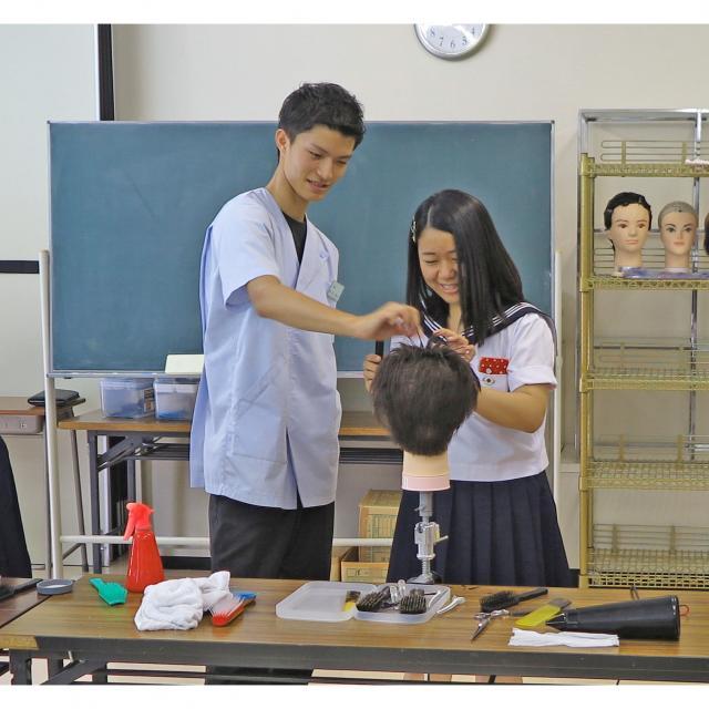 茨城理容美容専門学校 さわやかショートカット&ヘアアレンジ&デザイン巻き体験★2