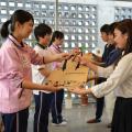 京都福祉専門学校 体験入学会 ~ 介護体験とアイマスクで白杖体験 ~