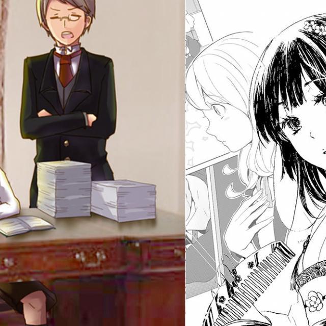 日本デザイン福祉専門学校 7/30(月)マンガ・アニメのワンシーンを描く1