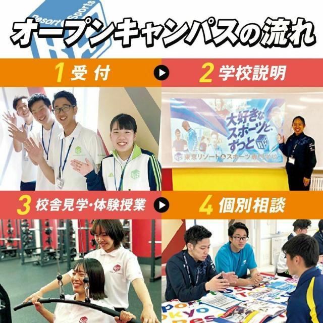 東京リゾート&スポーツ専門学校 4つの体験から選べる!オープンキャンパス【高校生・再進学】2