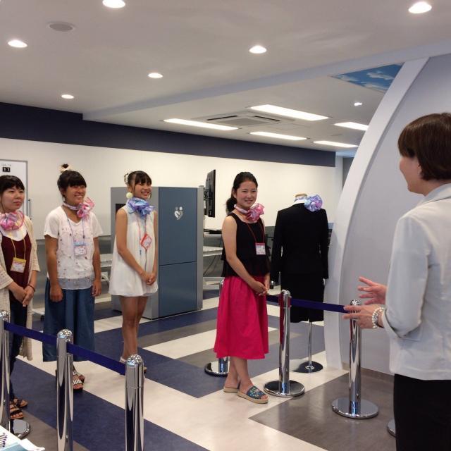 ホスピタリティ ツーリズム専門学校大阪 【旅行・鉄道・エアライン】職業なりきり体験オープンキャンパス3