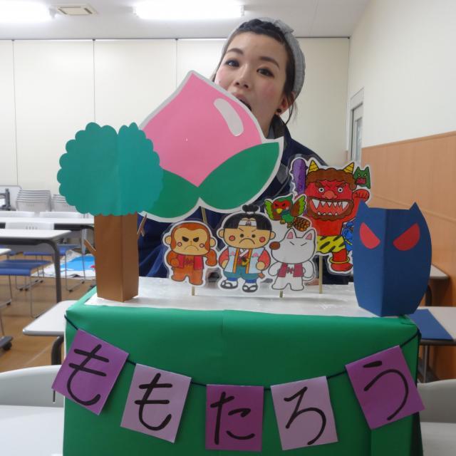 大阪健康ほいく専門学校 工作体験 チョキチョキ☆ぬりぬり♪あじさい作り2