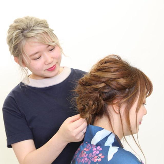 東京マックス美容専門学校 アップスタイル模擬授業体験1
