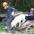 8/21(月) ・災害救助犬のトレーニング