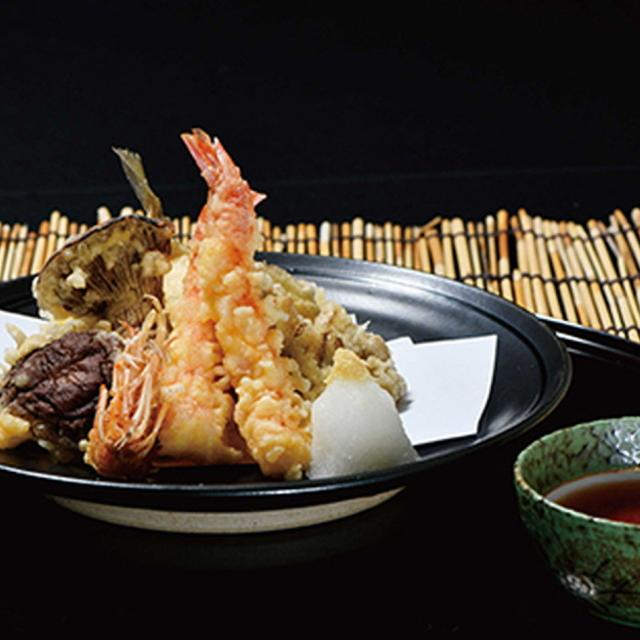 秋の食材を使った天ぷら