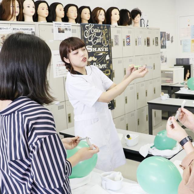 国際文化理容美容専門学校渋谷校 理容体験入学会4